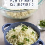 Don't know how to make cauliflower rice? Check out my tutorial and enjoy a delicious low carb alternative to rice | nashifood.com