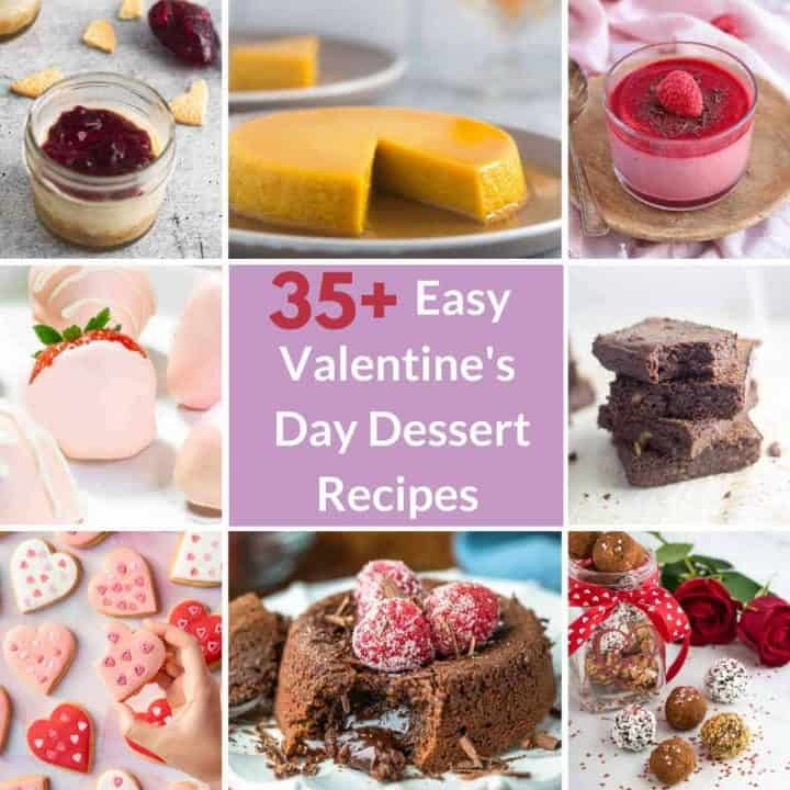 a collage of dessert recipes